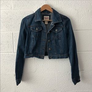 Mossimo Cropped denim jacket sz: Med